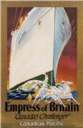 Vintage Travel Poster Empress of Britain Canada's Challenger